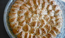 Skládaný slaný škvarkový koláč - trhací