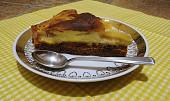Broskvový kakaový koláč s pudingovým tvarohem