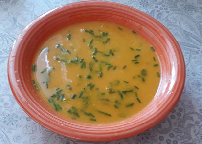 dýňová polévka s mrkví