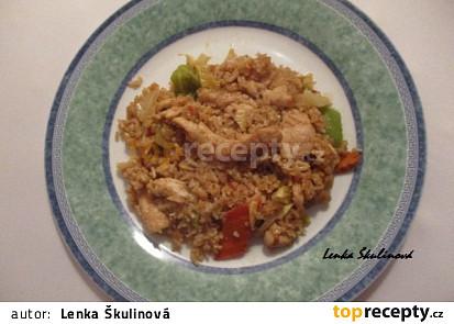 Kuřecí rizoto po sečuánsku