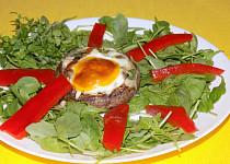 Portobello  zapečené s vajíčkem