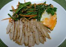Vepřová pečeně (karé) se zelenými fazolkami