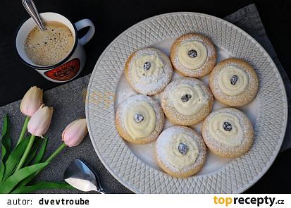 Linecké koláčky s tvarohem