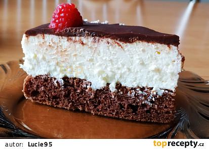 Míša dort tvarohový s čokoládou