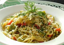 Koprové špagety z jedné pánve