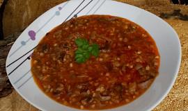 Václavková polévka s pohankou