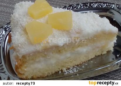 Kokosovo-ananasový dort / řez na poslední chvíli