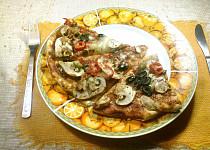Jednoduchá pizza žampionová tenká, košer