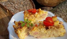 Smetanovo-květákové těstoviny se šunkou