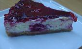 Tvarohovo-malinový koláč s bílou čokoládou