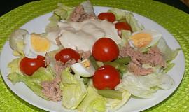 Ledový salát s tuňákem a vejci