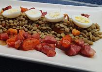 Čočka s křepelčím vejcem
