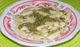 Těstoviny s brynzovo-mangoldovou omáčkou
