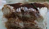 Tiramisu s mascarpone a cukrářskými piškoty
