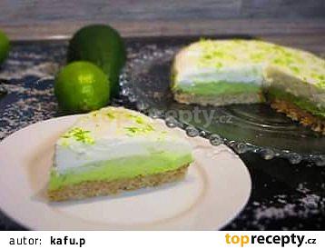 Avokádovo - limetkový cheesecake.