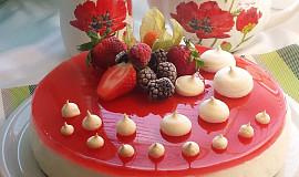 Čokoládovo-smetanovo-jahodový sen s pusinkami