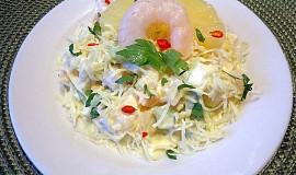 Krevetový salát s ananasem a jogurtem