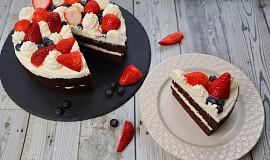 Nízkosacharidový Red Velvet Cake - Low carb