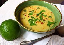 Polévka z červené čočky s kokosovým mlékem
