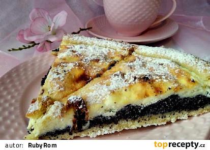 Křehký koláč s mákem a tvarohem
