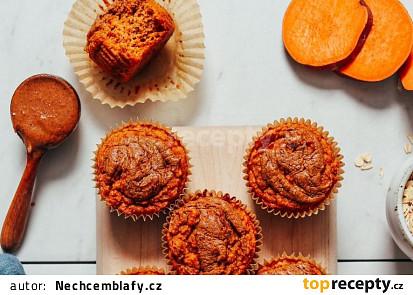 Nadýchané mandlovo– batátové muffiny