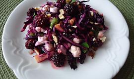 Salát z červeného zelí a květáku