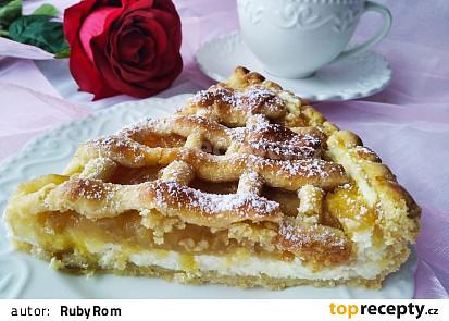 Mřížkový koláč s tvarohem a jablky