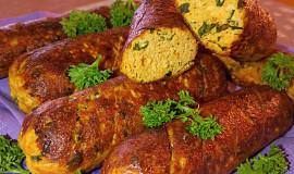 Nevšední párky z kuřecího masa a medvědího česneku