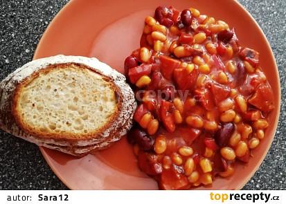 Mexické fazole s chilli