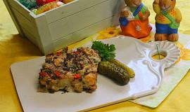 Netradiční velikonoční nádivka s paprikou a sušenými hříbky
