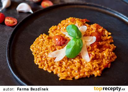 Rajčatové risotto ze cherry rajčat