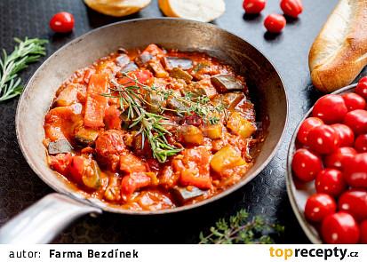 Ratatouille ze cherry rajčat