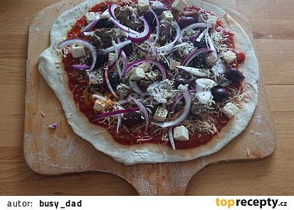 Jehněčí pizza na grilu