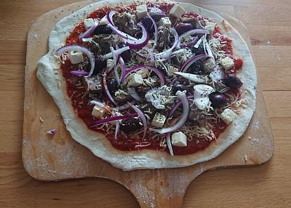 Jehněčí pizza