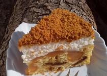 Karamelový dort / řez