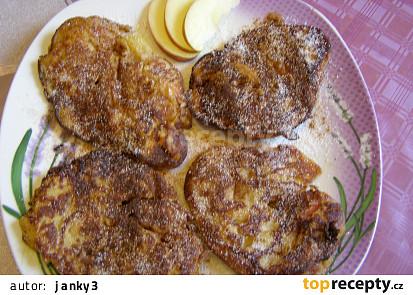 Placičky z bramborové kaše a jablek