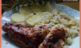 Kuřo-kachna se zelím z jednoho pekáče