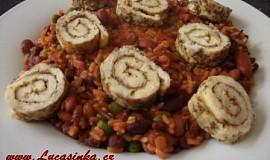 Rýžovo-fazolový pilaf