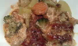 Zeleninovo-kuřecí pekáček