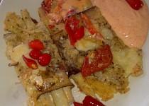 Chřestové pikantní balíčky zapečené se slaninou, sýry a vejci