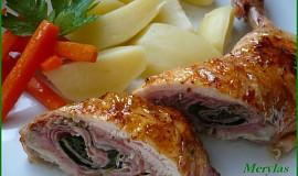 Kuřecí stehna plněná šunkou a špenátem