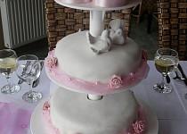 Svatební dort 3patrový