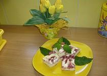 Smetanovo  - jahodový koláč