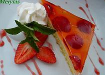 Jahodové řezy s vanilkovým pudinkem a želatinou