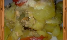 Zapékané brambory s tvarohem a sýrem