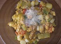 Zeleninová pánev s chřestem