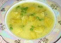 Hrášková polévka s jogurtem