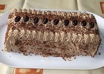 Čokoládovo-capuccinový řez