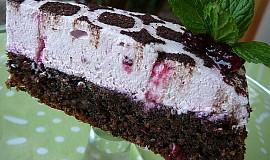 Ořechový dort s brusinkovou šlehačkou (bez mouky)