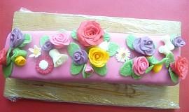 Kulatý dort a řez - dort č. 2 a č. 3
